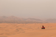 Quad bike on the sand dunes, Kunene Region, Northern Namibia, Southern Africa