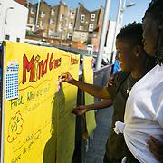 Mind Games in Gillett Square, Hackney.