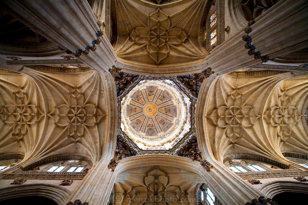 Cathedral ceiling, Salamanca, Spain during Semana Santa (Holy Week).