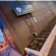 Office exterior photography of Centric Projects office at 1814 Main Street, Kansas City, Missouri. Assignment photography by Eric Bowers for Centric Projects.