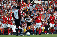 Fotball<br /> Premier League 2004/05<br /> Arsenal v Middlesbrough<br /> Highbury<br /> 22. august 2004<br /> Foto: Digitalsport<br /> NORWAY ONLY<br /> RAY PARLOUR  MIDDLESBROUGH DEJECTION AS ARSENAL CELEBRATE 5TH GOAL