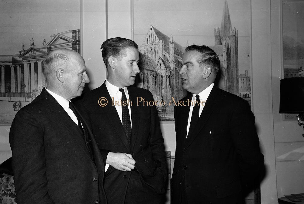 Cork Film Festival Press Reception. Pictured are Mayor F. O'Donoghue, Cork Festival Council; Mr. J.A. O'Brien (Special Events Officer, Bord Failte); annd Mr. Dermot Breen, Director..03.04.1964