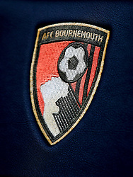 A detail view of the AFC Bournemouth badge ahead of the Premier League match at the Vitality Stadium, Bournemouth.