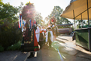 Erntedankfest (Harvest Festival) on a Farm in Schöttlingen, Lindhorst, Lower Saxony in Germany - with dances, church service and food stands