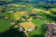 Nederland, Gelderland, Gemeente Berkelland, 30-06-2011; Omgeving Beltrum, dorp in Nationale Landschap De Achterhoek. De vorm van het huidige landschap rond het dorp is het gevolg van ruilverkaveling. Kleinschalige structuur, coulisselandschap met houtopstanden. Ruilverkavelingen naar ontwerp van landschapsarchitect Harry de Vroome uitgevoerd in de jaren '50..Beltrum area, village in the National Landscape Achterhoek. The shape of the current landscape surrounding the village is the result of land consolidation. Small-scale structure, bocage with standing timber. Land consolidation designed by the landscape architect Harry Vroome and performed in the 50s..luchtfoto (toeslag), aerial photo (additional fee required).copyright foto/photo Siebe Swart