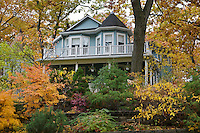 A home with a nice garden in Toronto's Beaches neighbourhood in the fall.