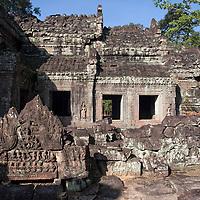 During the construction of Angkor Thom, Preah Khan was presumably the temporary residence city of Jayavarman VII.