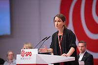 DEU, Deutschland, Germany, Berlin, 06.12.2019: Die ehemalige Juso-Vorsitzende Franziska Drohsel beim Bundesparteitag der SPD im CityCube.