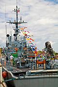 """Jastarnia, 2008-06-21. Trałowiec ORP """"Wigry"""", port w Jastarni"""