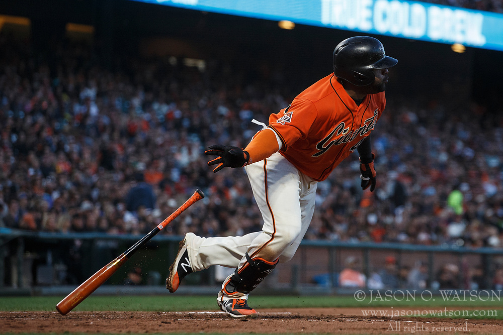 SAN FRANCISCO, CA - JULY 06: Pablo Sandoval #48 of the San Francisco Giants at bat against the St. Louis Cardinals during the fourth inning at AT&T Park on July 6, 2018 in San Francisco, California. The San Francisco Giants defeated the St. Louis Cardinals 3-2. (Photo by Jason O. Watson/Getty Images) *** Local Caption *** Pablo Sandoval