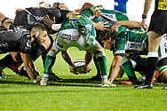 Scrum between Benetton Treviso and Dragons Rugby during the Guinness Pro 14 rugby union match between Benetton Treviso and Dragons Rugby on November 29, 2020 at the Monigo stadium in Treviso, Italy - Photo Ettore Griffoni / LM / ProSportsImages / DPPI