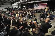 February 17, 2012 PEACHTREE CITY:   Newt Gingrich speaks to supporters during his rally at Peachtree City-Falcon Field in Peachtree City on  Friday, February 17, 2012.  He is running for the president of the United States.    ©2012 Johnny Crawford