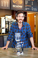 Broadway Coffeehouse in Salem, Oregon.  Jesse Hayes, assistant manager