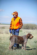 SHOT 5/9/20 10:20:55 AM - Various pointing breeds compete in the Vizsla Club of Colorado Licensed Hunt Test Premium at the Rocky Mountain Sporting Dog Club Grounds in Keenesburg, Co. (Photo by Marc Piscotty / © 2020)