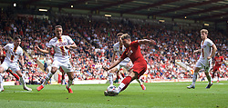 BRADFORD, ENGLAND - Saturday, July 13, 2019: Liverpool's Alex Oxlade-Chamberlain during a pre-season friendly match between Bradford City AFC and Liverpool FC at Valley Parade. (Pic by David Rawcliffe/Propaganda)  BRADFORD, ENGLAND - Saturday, July 13, 2019: Liverpool's xxxx during a pre-season friendly match between Bradford City AFC and Liverpool FC at Valley Parade. (Pic by David Rawcliffe/Propaganda)