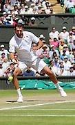 WIMBLEDON - GB -  6th July 2016: The Wimbledon Tennis Championship at the All England Lawn Tennis Club in S.E. London.<br /> <br /> Roger Federer vs Marin Cilic Quarter final match.<br /> ©Ian Jones/Exclusivepix Media