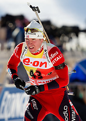 Emil Hegle Svendsen of Norway during the Men 20 km Individual of the e.on IBU Biathlon World Cup on Thursday, December 16, 2010 in Pokljuka, Slovenia. The fourth e.on IBU World Cup stage is taking place in Rudno Polje - Pokljuka, Slovenia until Sunday December 19, 2010.  (Photo By Vid Ponikvar / Sportida.com)