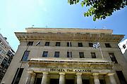 Griekenland, Thessaloniki, 11-6-2011Banken in deze tweede stad van het land. Nationale bank.Foto; Flip Franssen