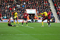 Football - 2019 / 2020 Premier League - AFC Bournemouth vs. Watford<br /> <br /> Abdoulaye Doucoure of Watford fires his side into the lead at the Vitality Stadium (Dean Court) Bournemouth <br /> <br /> COLORSPORT/SHAUN BOGGUST