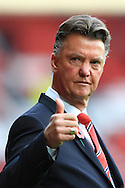 Louis Van Gaal, manager of Manchester United gives the thumbs up - Manchester United vs. Crystal Palace - Barclay's Premier League - Old Trafford - Manchester - 08/11/2014 Pic Philip Oldham/Sportimage