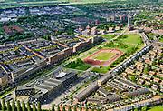 Nederland, Utrecht, Utrecht; 14–05-2020; stadsdeel Leidsche Rijn, Parkwijk / Hoge Weide. Amaliapark met Leidsche Rijncollege. <br /> <br /> Leidsche Rijn district.<br /> <br /> luchtfoto (toeslag op standaard tarieven);<br /> aerial photo (additional fee required)<br /> copyright © 2020 foto/photo Siebe Swart