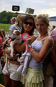 Tessa  Copemann, Hatty Copemann ( black top)  and Alfie, Macmillan dog day, in aid of Macmillan Cancer Relief, Chelsea , 6 July 2004. SUPPLIED FOR ONE-TIME USE ONLY-DO NOT ARCHIVE. © Copyright Photograph by Dafydd Jones 66 Stockwell Park Rd. London SW9 0DA Tel 020 7733 0108 www.dafjones.com