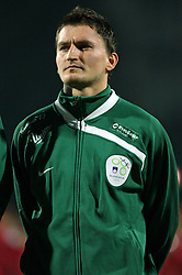 Andraz Kirm (19) of Slovenia before the UEFA Friendly match between national teams of Slovenia and Denmark at the Stadium on February 6, 2008 in Nova Gorica, Slovenia. Slovenia lost 2:1. (Photo by Vid Ponikvar / Sportal Images).