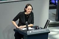 08 DEC 2020, BERLIN/GERMANY:<br /> Dr. Ingrid Nestle, MdB, B90/Gruene, Haushaltsdebatte, Plenum, Reichstagsgebaeude, Deuscher Bundestag<br /> IMAGE: 20201208-02-111<br /> KEYWORDS: Rede