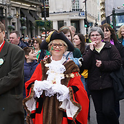 Bernadette Lappage is the Mayor of Enfield attends the London's St Patrick's Day in London on 19th March 2017. by See Li