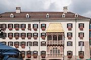 Austria, Innsbruck a building in Herzog-Friedrich Strasse in the historic town Golden Roof building
