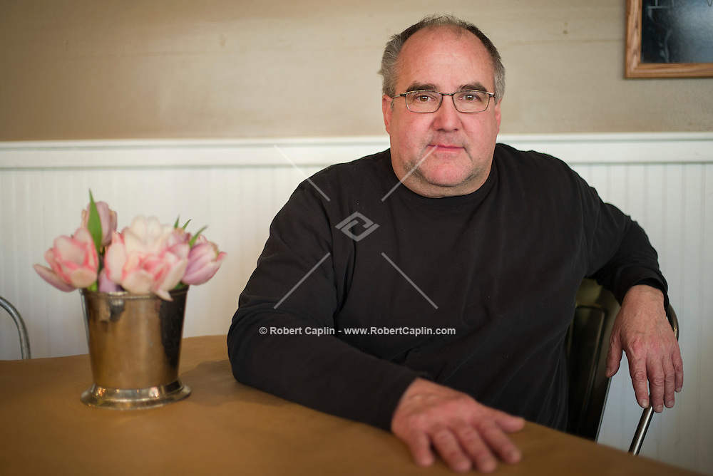 New York, NY - Feb. 28, 2014 - Mitchel London spent 7 years living in the attic of Gracie Mansion when he was the personal chef for Ed Koch. Photographed in the Cafe at Fairway on the Upper West Side.<br /> <br /> (Photo by Robert Caplin)