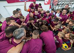 Players of Triglav celebrate after winning during 2nd Leg football match between NK Triglav Kranj and NS Drava Ptuj in Qualifications of Prva Liga Telekom Slovenije 2018/19, on June 6, 2018 in Kranj, Slovenia. Photo by Vid Ponikvar / Sportida