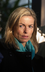 © London News Pictures. 29/11/2012. London, UK. Kate McCann, mother of missing girl Madeleine McCann leaving the QEII centre in London to attend a media briefing following Lord Justice Leveson's  announcement  about his report into the culture and ethics of the UK's press. Photo credit: Ben Cawthra/LNP