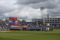 Cricket - 2019 ICC Cricket World Cup - Group Stage: South Africa vs. India<br /> <br /> The teams line up for the anthems at the Hampshire Bowl Southampton England<br /> <br /> COLORSPORT/SHAUN BOGGUST