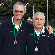 Robert Duesler, USA, (left) and George Sarantos, USA, 70 Mens Doubles Winners during the 2009 ITF Super-Seniors World Team and Individual Championships at Perth, Western Australia, between 2-15th November, 2009.