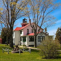 """""""Grand Traverse Light""""<br /> <br /> Beautiful Grand Traverse Lighthouse in Northport Michigan, at Leelanau State Park!"""