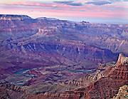 Grand Canyon sunset from South Rim Arizona
