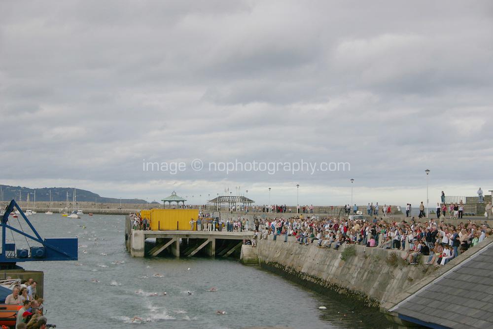 Dun Laoghaire Harbour swim competition, Dublin, Ireland<br />
