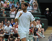 Tennis - 2021 All England Championship - Week One - Day Four (Thursday) - Wimbledon<br /> Alex Bolt v Cameron Norrie<br /> <br /> Cameron Norrie of GBR celebrates winning the match<br /> <br /> CreditCOLORSPORT/Andrew Cowie