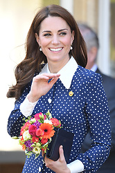 The Duchess of Cambridge visits Bletchley Park to view a special D-Day exhibition in Bletchley, Milton Keynes, Buckinghamshire, UK, on the 14th May 2019. 14 May 2019 Pictured: The Duchess of Cambridge visits Bletchley Park to view a special D-Day exhibition in Bletchley, Milton Keynes, Buckinghamshire, UK, on the 14th May 2019. Photo credit: James Whatling / MEGA TheMegaAgency.com +1 888 505 6342