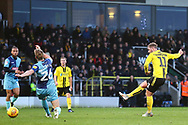 Burton Albion midfielder David Templeton (11) scores a goal and celebrates during the EFL Sky Bet League 1 match between Burton Albion and Wycombe Wanderers at the Pirelli Stadium, Burton upon Trent, England on 26 December 2018.