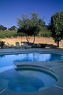 Pool at Justin Vineyards & Winery, Chimney Rock Road, Paso Robles, San Luis Obispo County, California