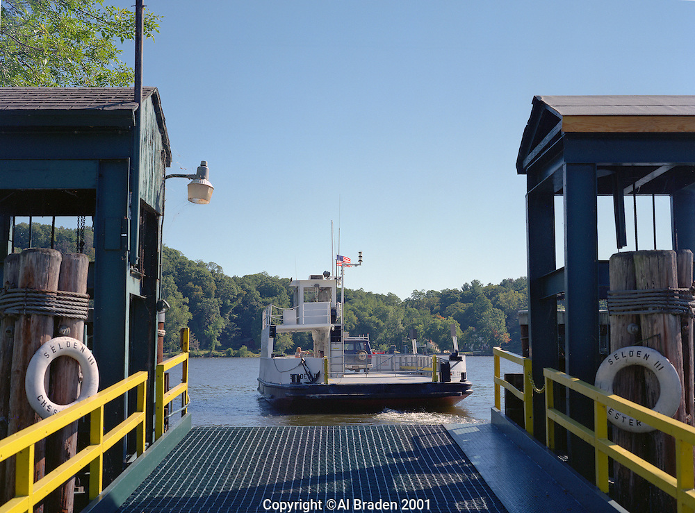 Chester/Hadlyme Ferry across the Connecticut River is the second oldest operating ferry in the U.S., Chester, CT