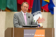 Speaker John Boehner at the Council of the Americas