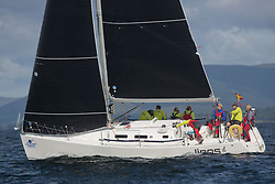 Largs Regatta Festival 2018<br /> <br /> Day 1- GBR8543R, Jings, Robin Young, CCC, J109<br /> <br /> Images: Marc Turner