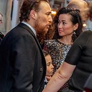 NLD/Amsterdam/20190415 - Filmpremiere première Baantjer het Begin, Arne Toonen, ex partner Birgit Schuurman