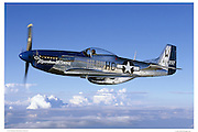 "P-51D ""Moonbeam"", aerial photography"