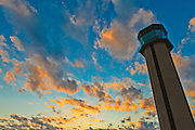 Air traffic control tower at DeKalb Peachtree Airport (PDK), Atlanta.