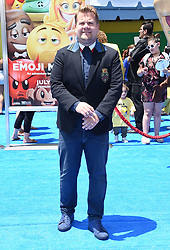July 23, 2017 - Westwood, California, U.S. - James Corden arrives for the premiere of the film 'The Emoji Movie' at the Regency Village theater. (Credit Image: © Lisa O'Connor via ZUMA Wire)