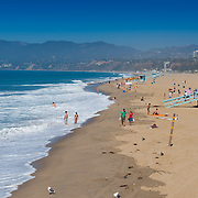 Santa Monica beach in Los Angeles, California